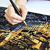 Скретч-картина Ночной Париж / Картина гравюра