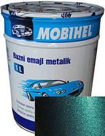 """385 Автоэмаль базовая """"металлик"""" Helios Mobihel """"Изумруд"""", 1л"""