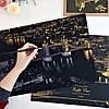 Скретч-картина Ночной Лондон / Картина гравюра