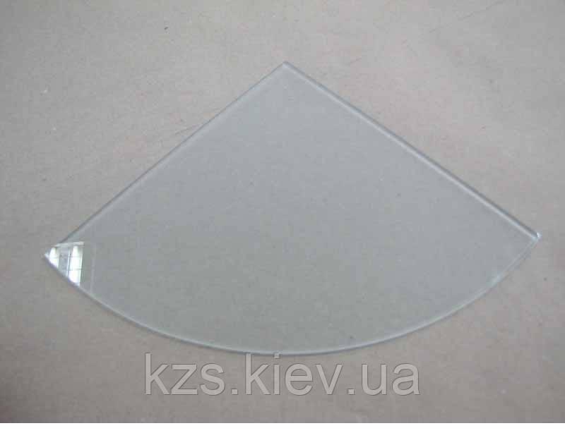 Полка радиусная из матового стекла 6 мм. 300х300