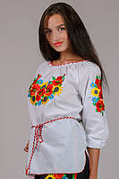 Женская вышиванка Летний Букет, фото 1