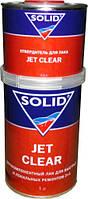 Лак SOLID Jet Clear 2+1 акриловый бесцветный быстросохнущий 0.5л + отвердитель 0.25л