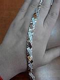 Серебряный браслет со вставками золота, фото 4