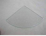 Полка радиусная из прозрачного стекла толщиной 5 мм. 250х250мм