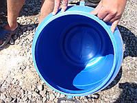 Бочка 90 литров б/у пластиковая со съемной крышкой