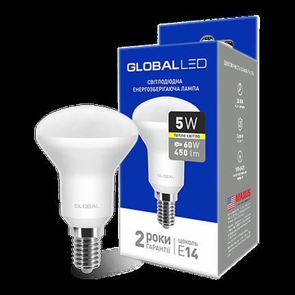 LED лампа GLOBAL R50 5W мягкий свет 220V E14 (1-GBL-153) (NEW), фото 2