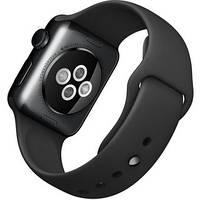 Умные часы Apple 38mm Space Black Stainless Steel Case with Black Sport Band (MLCK2)