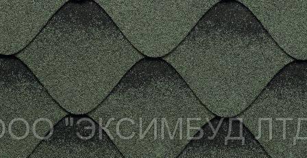 Битумная гибкая черепица Kerabit  Волна зелено-черная