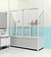 Шторка для ванн МетаКам Купе 150 см 2-х створчатая раздвижная
