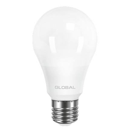 LED лампа GLOBAL A60 8W мягкий свет 220V E27 AL (1-GBL-161) (NEW), фото 2