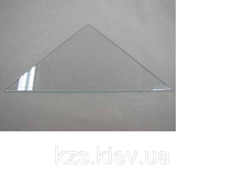 Полка треугольная из прозрачного стекла толщиной 8 мм. 400х400