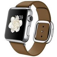 Умные часы Apple 38mm Stainless Steel Case with Brown Modern Buckle (MJ3A2)