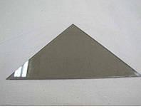 Полка треугольная из стекла Бронза толщиной 8 мм. 400х400 мм