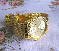 Роскошные наручные часы Geneva со стразами/под золото