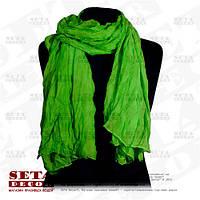 Женский яркий шарф парео  зеленый