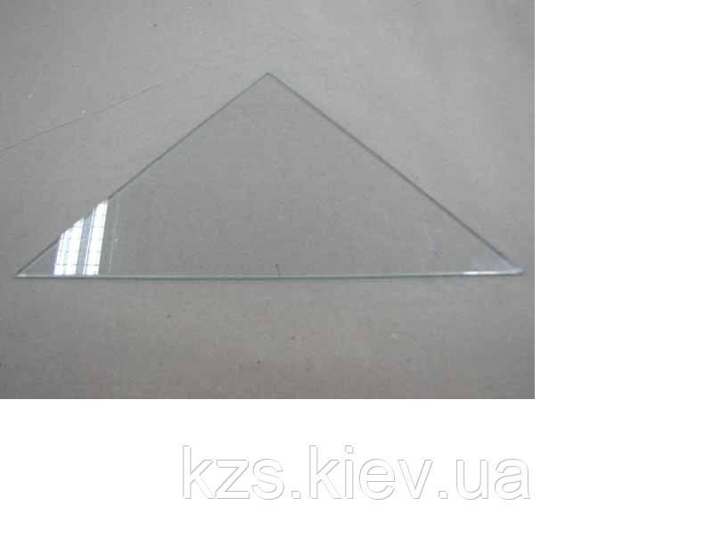 Полка треугольная из прозрачного стекла толщиной 6 мм. 350х350 мм