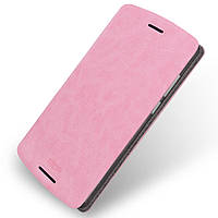 Чехол книжка MOFI Rui Series для Lenovo A7010 Vibe X3 Lite розовый
