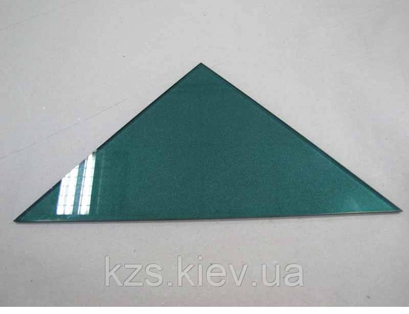 Полка треугольная из крашенного стекла толщиной 4 мм 350х350 мм