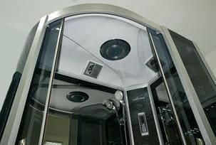 Гидромассажный бокс BADICO SAN 388R BO правосторонний 120x80x215 с средним поддоном, фото 2