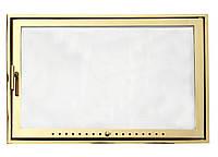 Дверка каминная латунь 600х400