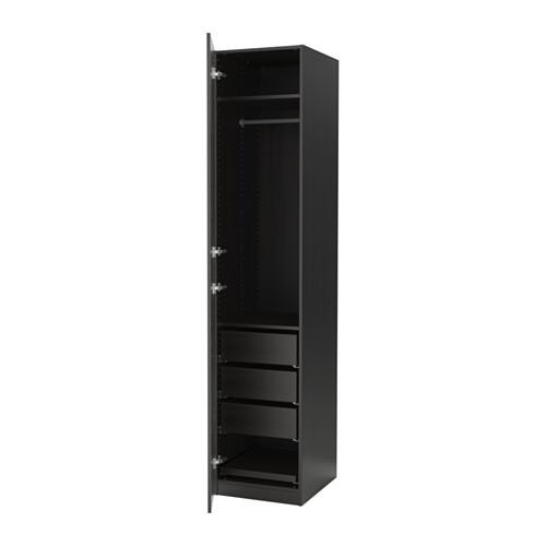 """IKEA """"ПАКС"""" Шкаф платяной, черно-коричневый, НЕКСУС черно-коричневый50x60x236 см"""