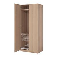 """IKEA """"ПАКС"""" Шкаф платяной,  под беленый дуб, НЕКСУС  под беленый дуб, 100x60x236 см"""