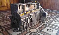Блок цилиндров двигателя ГАЗ 24 мотора с картером сцепления бу