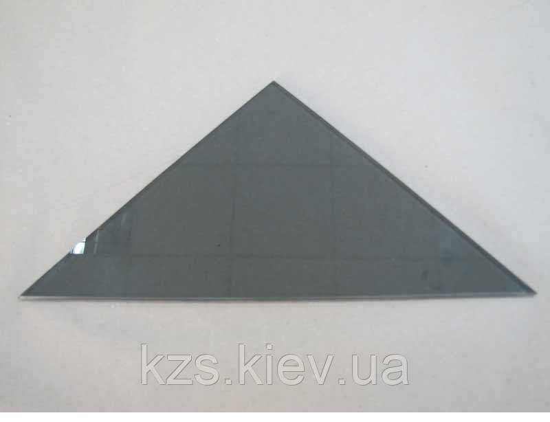 Полка треугольная из стекла Графит толщиной 6 мм. 300х300 мм