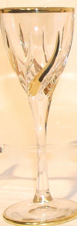 Набор бокалов для вина Trix с позолотой