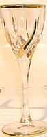 Набор бокалов для вина Trix, декорированные золотом