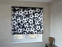 Рулонные шторы с фотопечатью мячики