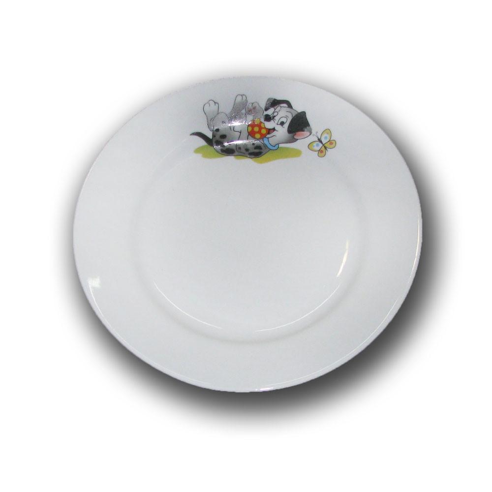Тарелка фарфоровая 200мм. Озорые щенки
