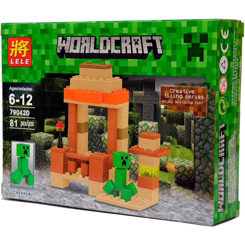 """Конструктор Lele Minecraft 79042D """"Крипер"""", 81 дет"""