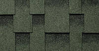 Битумная черепица Kerabit Квадро зелено-черный