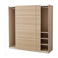 """IKEA """"ПАКС"""" Шкаф платяной,  беленый дуб, ИЛЬСЕНГ дубовый шпон , 200x66x201 см"""