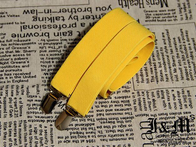 "Подтяжки для брюк ""Suspenders"" Yellow (030113), фото 2"