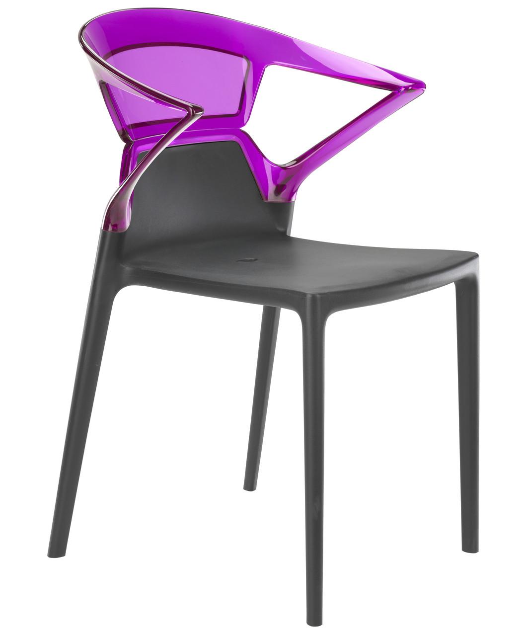 Кресло Ego-K сиденье Антрацит верх Прозрачно-пурпурный (Papatya-TM)
