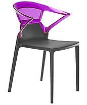 Кресло Ego-K сиденье Антрацит верх Прозрачно-красный (Papatya-TM), фото 3