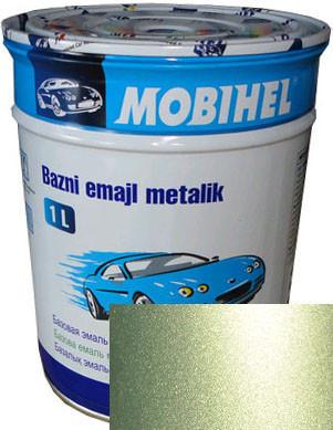 """Автомобильная краска 345  базовая """" Helios Mobihel """"Оливковая"""", 1л"""