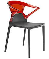 Кресло Ego-K сиденье антрацит верх прозрачно-красный