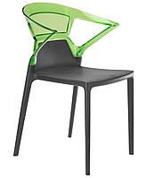 Кресло Ego-K сиденье антрацит верх прозрачно-зеленый