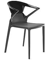 Кресло Ego-K сиденье Антрацит верх Прозрачно-синий (Papatya-TM), фото 3