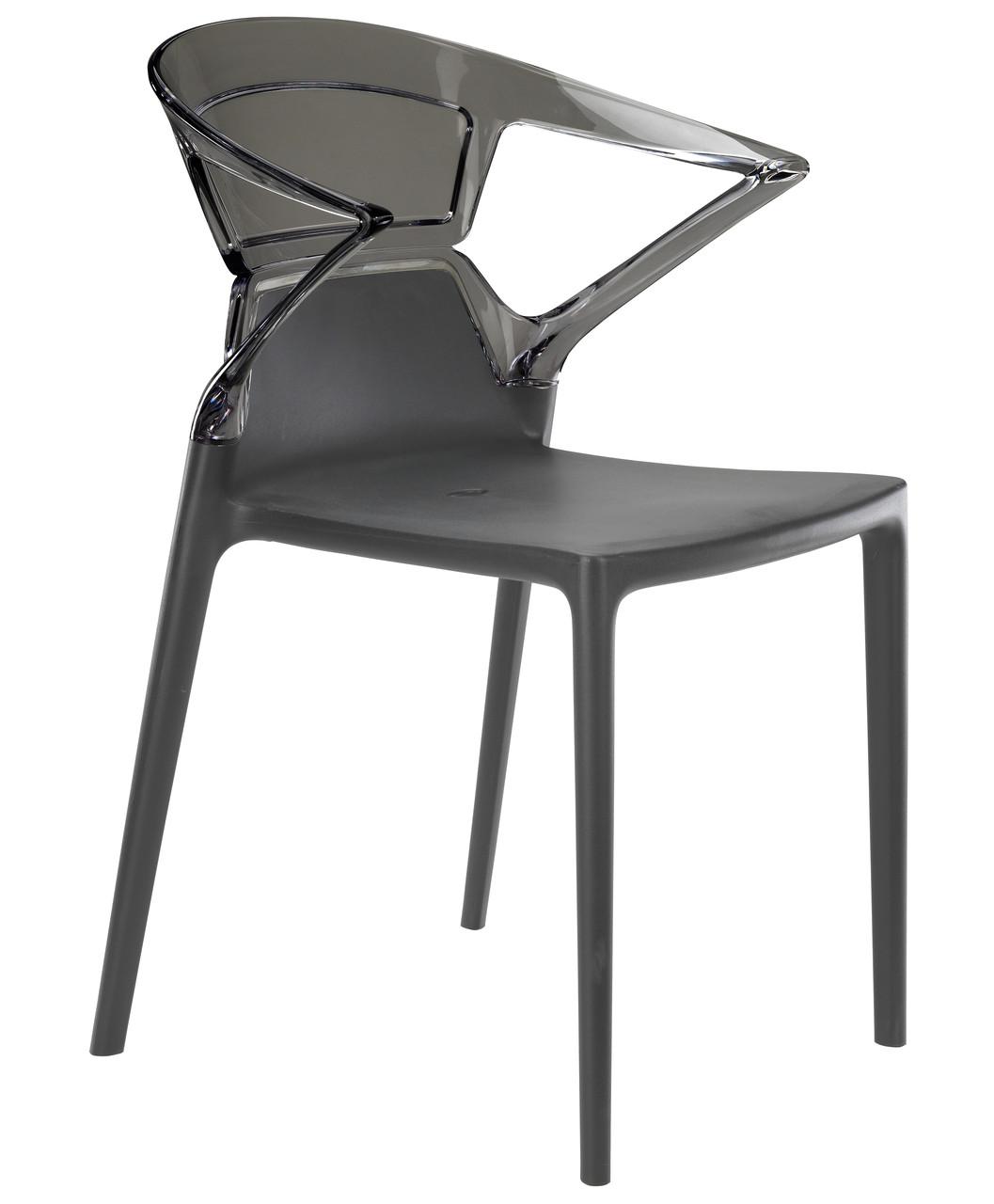 Кресло Ego-K сиденье Антрацит верх Прозрачно-дымчатый (Papatya-TM)