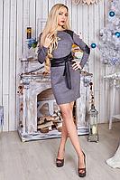 Теплое женское платье из плотного турецкого трикотажа