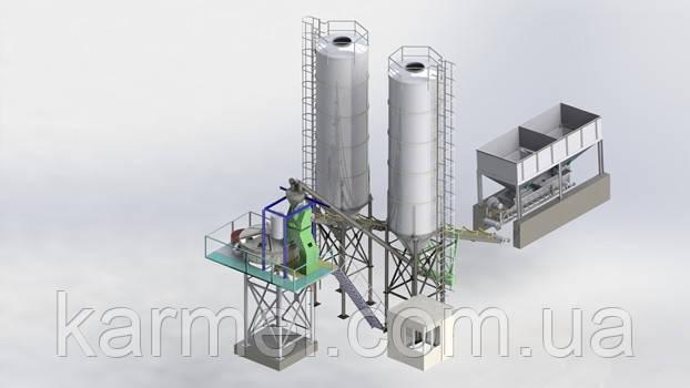 Бетоносмесительная установка БСУ-40КМ от производителя KARMEL
