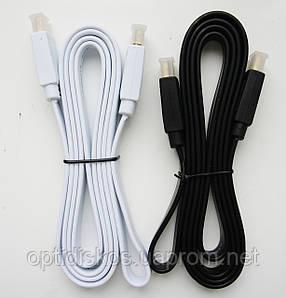 HDMI кабель, плоский, 1,5 м, чорний, фото 2