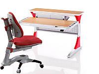 Комплект мебели Детский стол KD-333 box с красными вставками+стул KY-618 красный(жуки) Goodwin