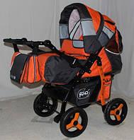 Детская коляска-трансформер  Riko Master серо-оранжевый