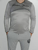 Джемпер мужской серебристый размер L-3XL (до 52-54)