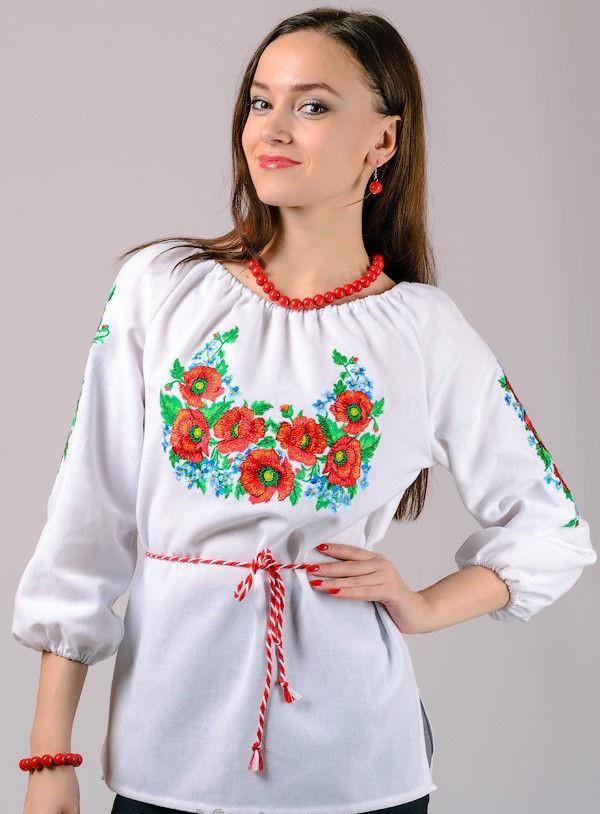Женская вышиванка Василек, фото 1